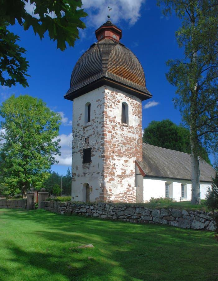 Oude kerk op eilanden Aland stock foto's