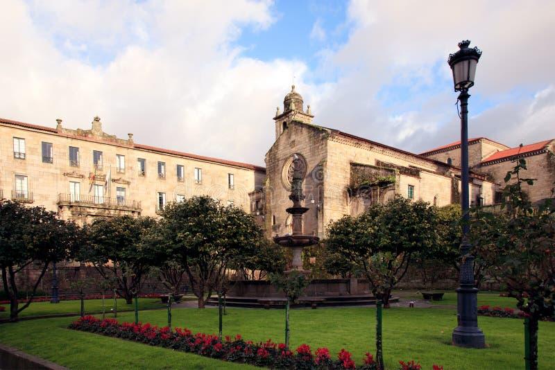 Oude kerk in Pontevedra stock afbeeldingen