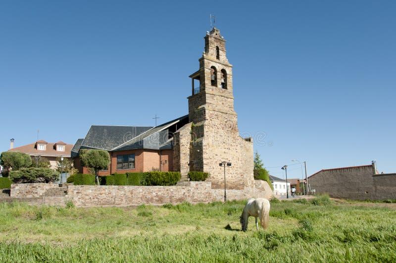 Oude Kerk in San Justo de la Vega - Spanje royalty-vrije stock fotografie
