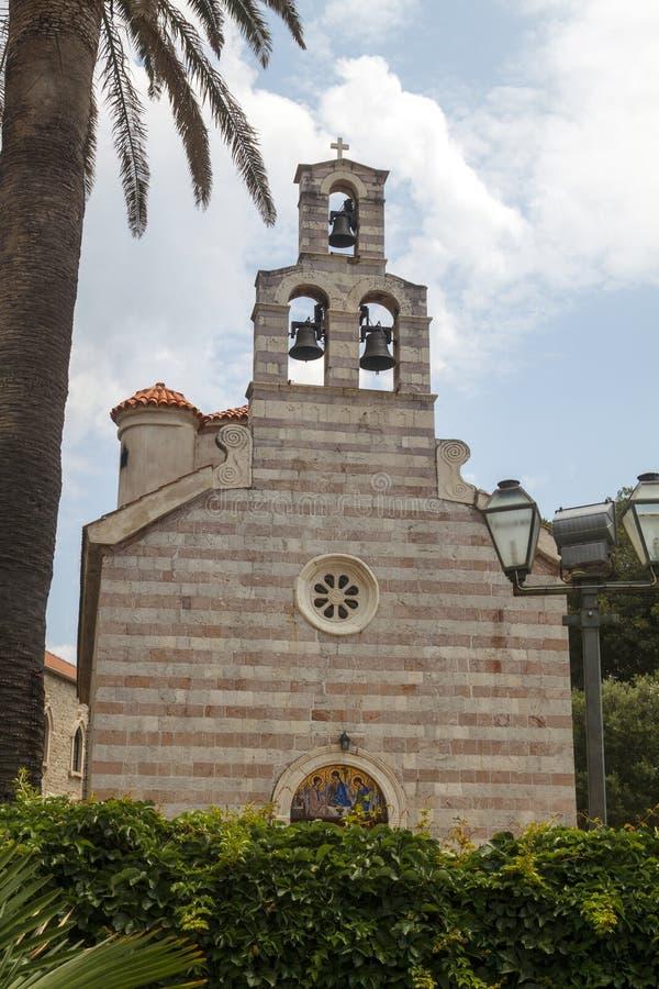 oude kerk in Oude stad Budva, Montenegro royalty-vrije stock foto's