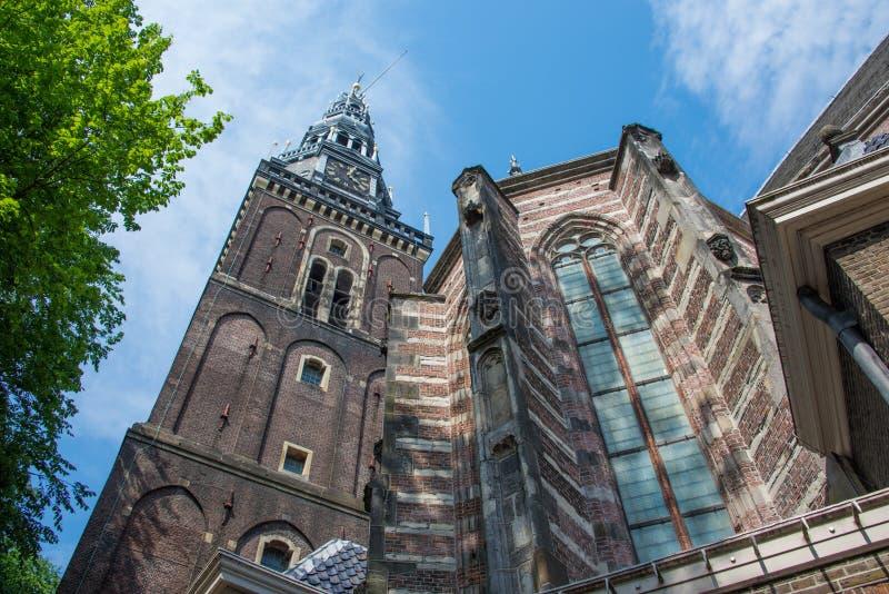 Oude Kerk Stary kościół w Amsterdam zdjęcie stock
