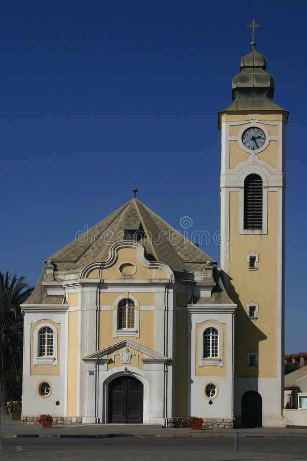 Oude kerk in Swakopmund royalty-vrije stock foto's