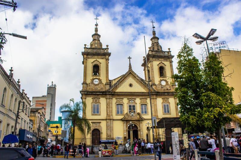 Oude kerk van Aparecida stock fotografie
