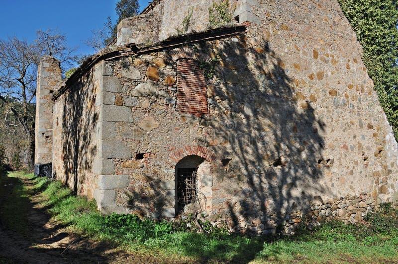 Oude kerk van vallgorguina-Barcelona royalty-vrije stock afbeelding