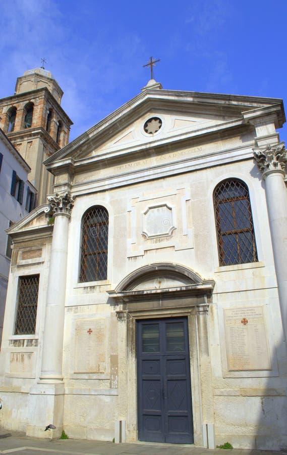 Oude kerk, Venetië Italië royalty-vrije stock afbeelding