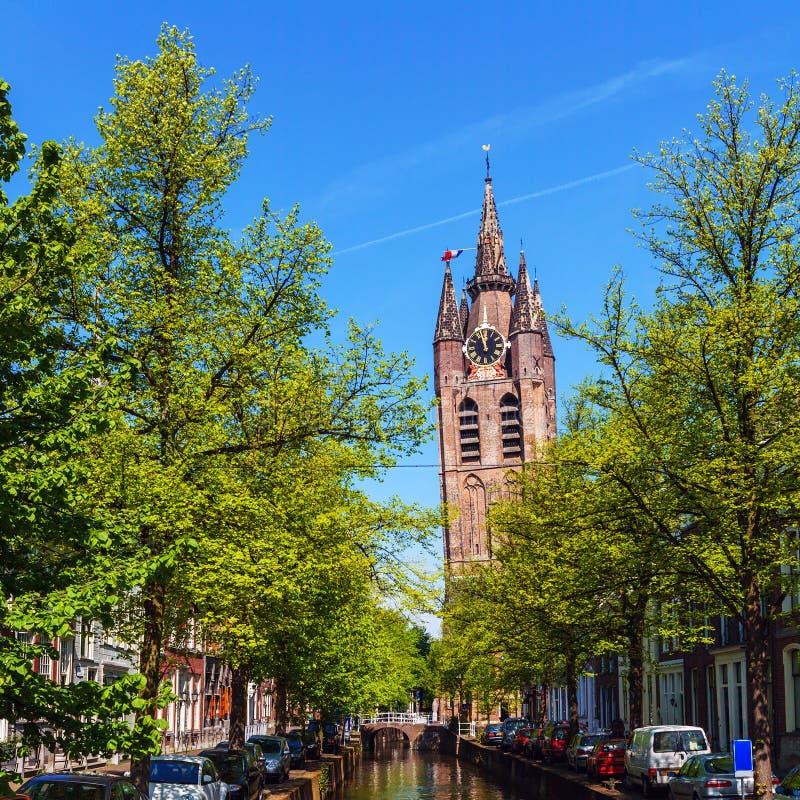 Oude Kerk (vieille église), Delft, Hollande photo libre de droits