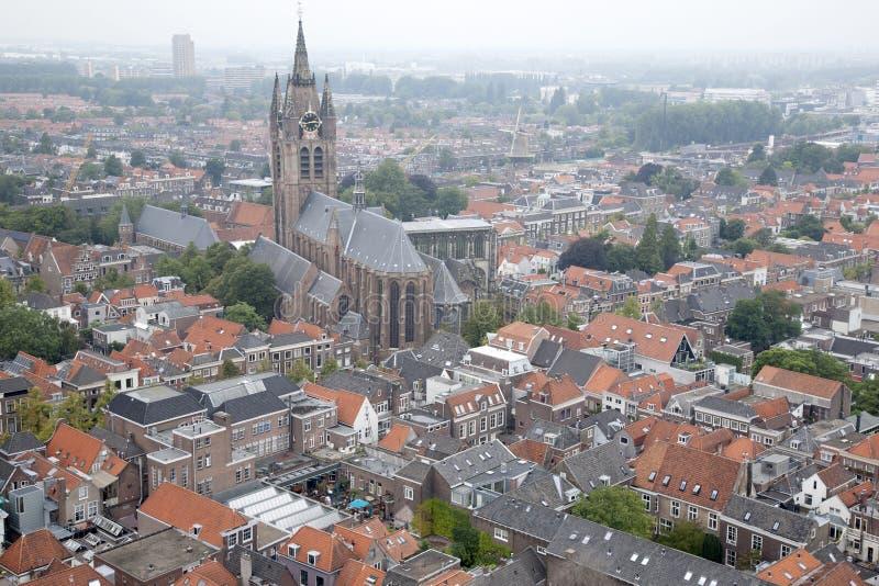 Oude Kerk - vieille église, Delft, Hollande photographie stock