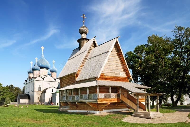 Oude kerken in Suzdal (Rusland) royalty-vrije stock fotografie
