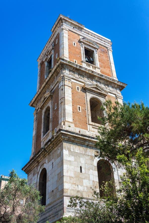 Oude Kerkklokketoren in Napels, Italië royalty-vrije stock fotografie