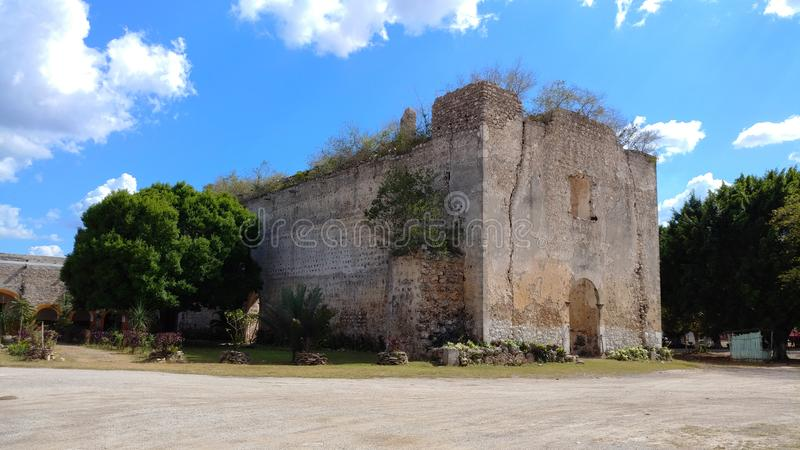 Oude kerkruïnes, Mexico royalty-vrije stock foto
