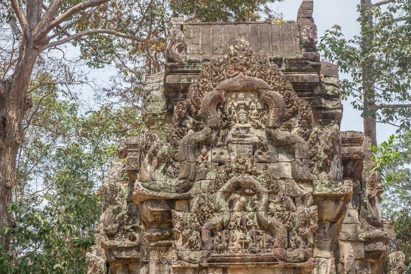 Oude Khmer gravure van Krishna, Angkor royalty-vrije stock foto's