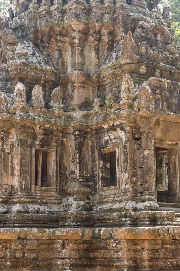 Oude Khmer gravure van Krishna, Angkor royalty-vrije stock foto