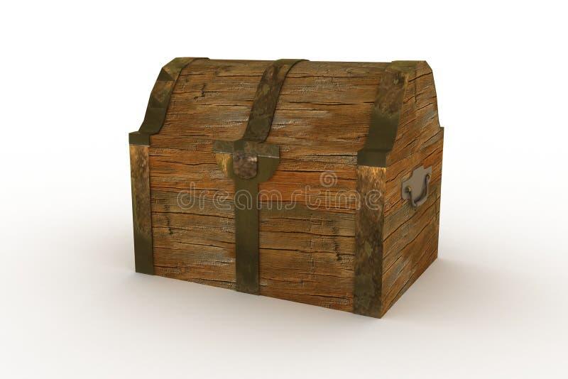 Oude kist royalty-vrije illustratie
