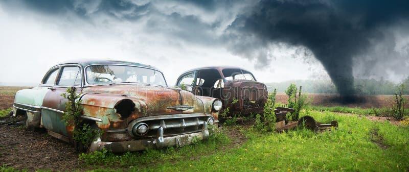 Oude Klassieke Auto, Troepwerf stock foto