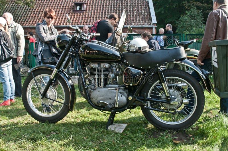Oude klassieke Poolse motorfiets Junak royalty-vrije stock foto