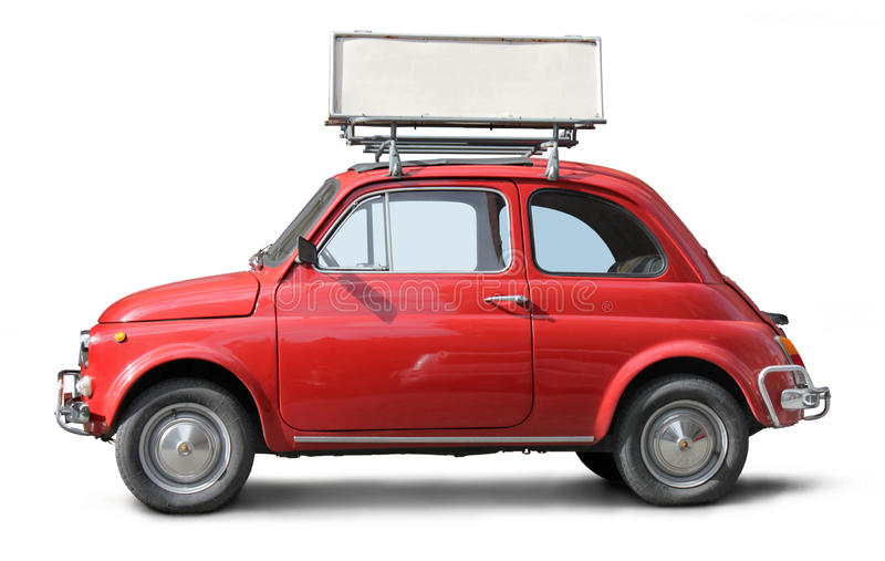 Oude Kleine Auto royalty-vrije stock afbeeldingen