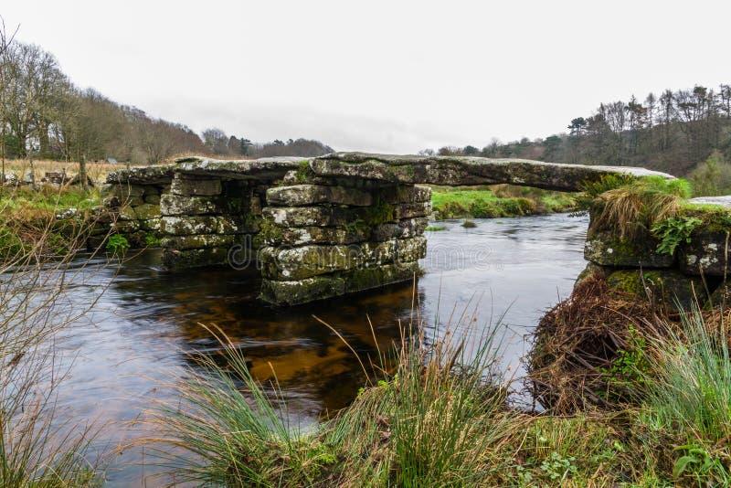 Oude kleppenbrug stock foto