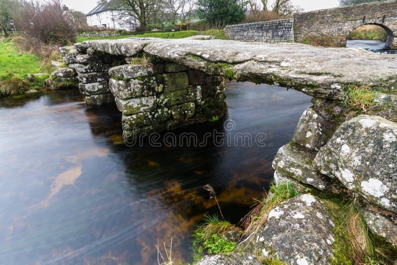 Oude kleppenbrug royalty-vrije stock fotografie