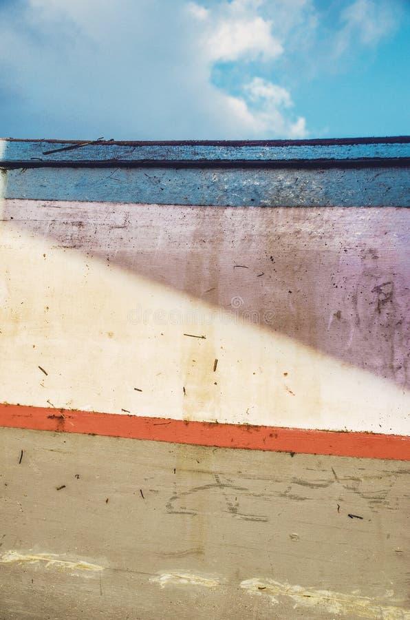 Oude kleurrijke houten gekraste textuur/achtergrond royalty-vrije stock fotografie