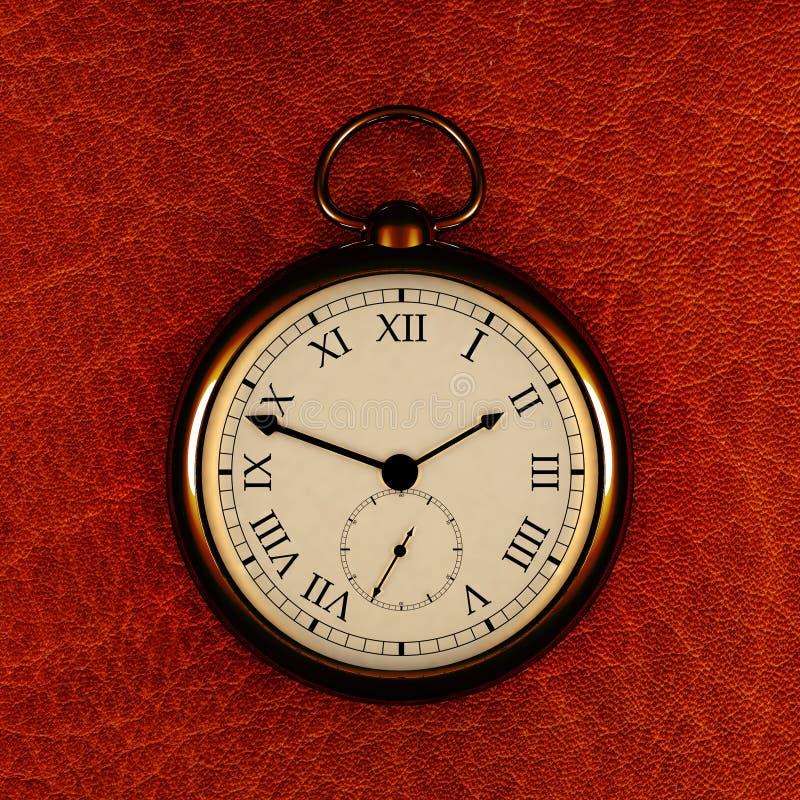 Oude klok stock illustratie