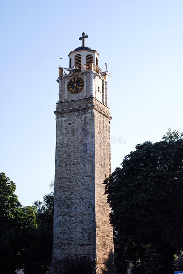 Oude klokketoren in Bitola, Macedonië royalty-vrije stock foto's