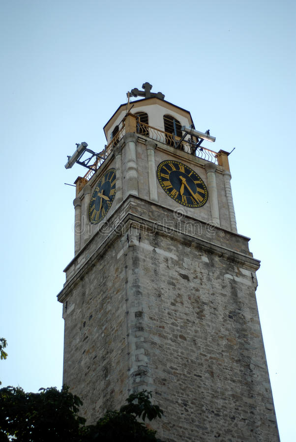 Oude klokketoren in Bitola, Macedonië stock foto's
