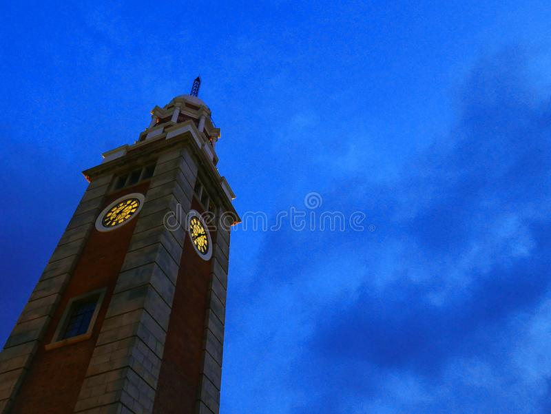 Oude klokketoren in Hongkong royalty-vrije stock afbeelding