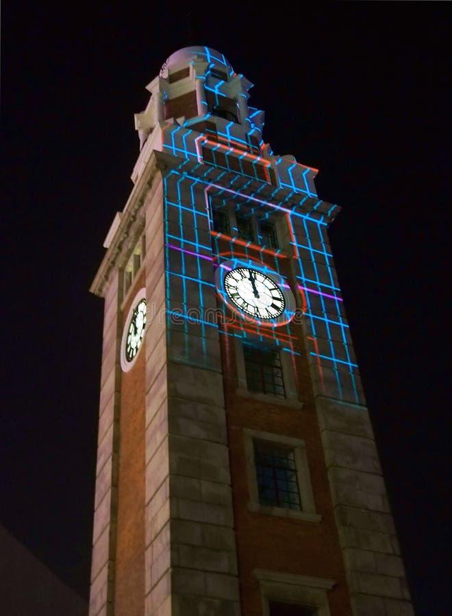 Oude klokketoren in Hongkong royalty-vrije stock afbeeldingen