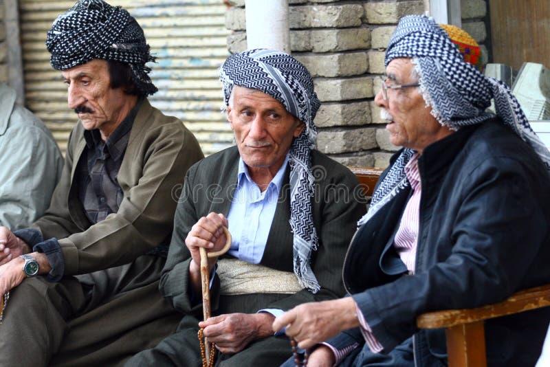 Oude Koerdisch bemant stock foto's