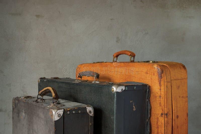 Oude koffers stock fotografie