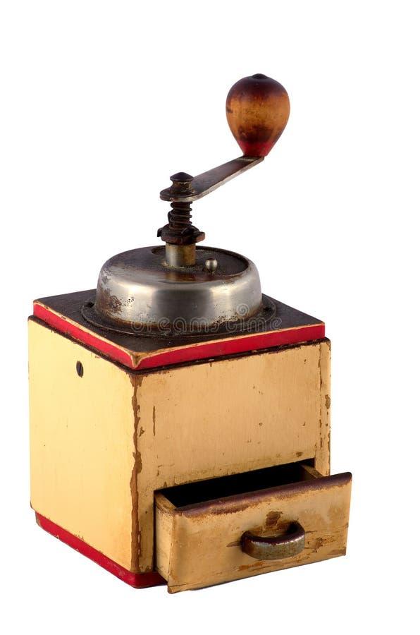 Oude koffiemolen stock afbeelding