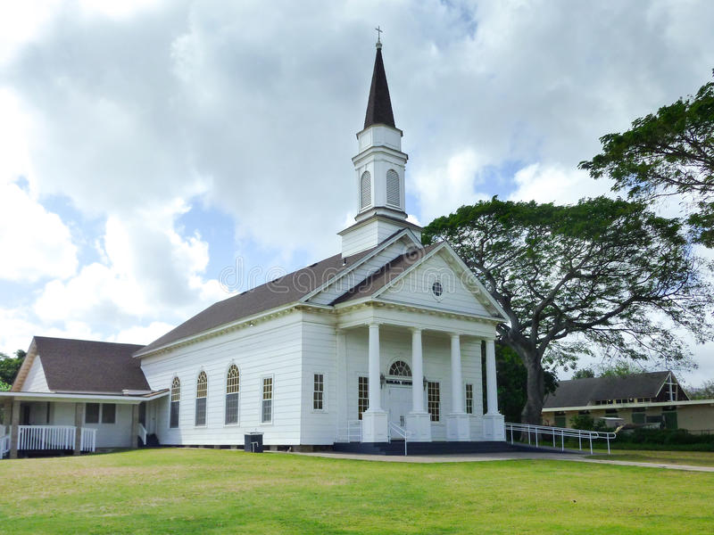 Oude Koloa-Kerk in Koloa, Kauai stock afbeeldingen