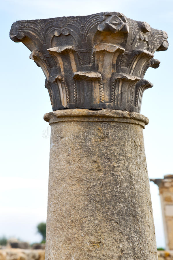 oude kolom in de de hemelgeschiedenis en aard royalty-vrije stock fotografie