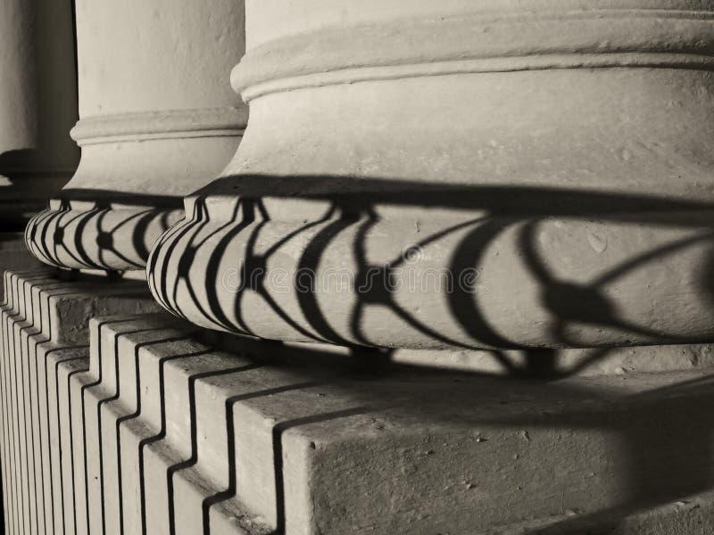 Oude kolommen stock foto's