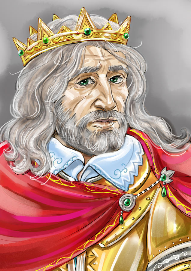 Oude koning royalty-vrije illustratie