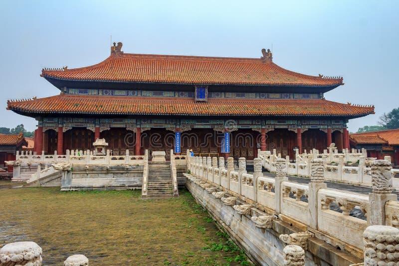 Oude koninklijke paleizen van de Verboden Stad in Peking China royalty-vrije stock foto
