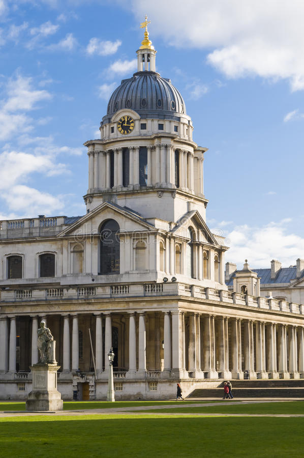 Oude Koninklijke Zeeuniversiteit, Greenwich stock foto