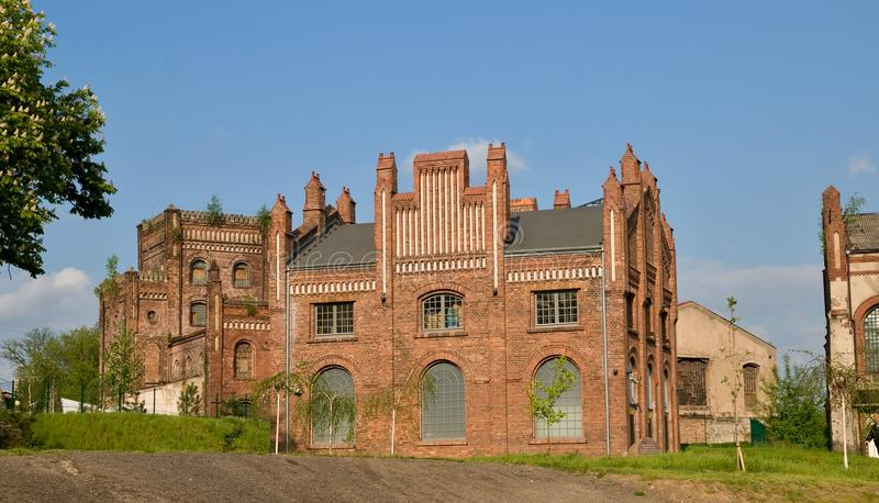 Oude koolmijn in Katowice royalty-vrije stock afbeelding