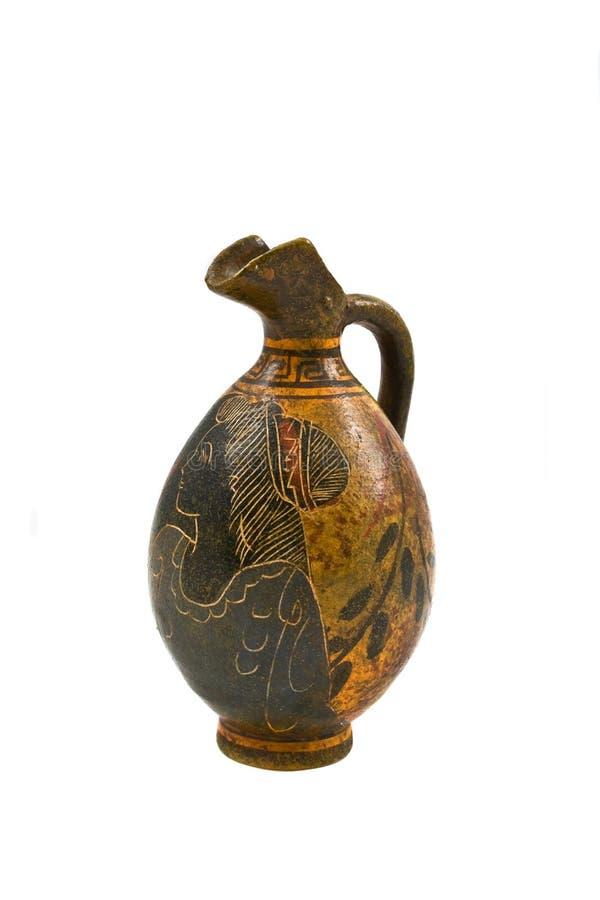 Oude kruik van het Grieks stock afbeeldingen