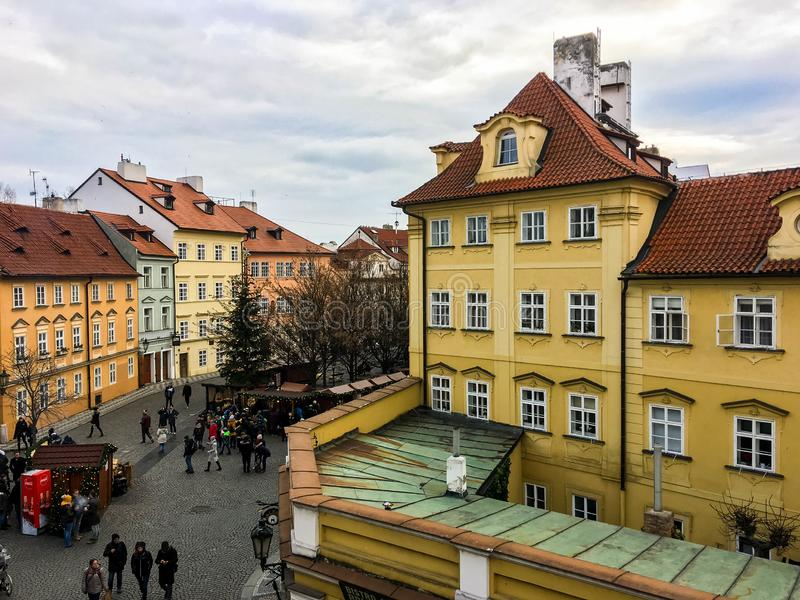 Oude kwart in Praag stock foto