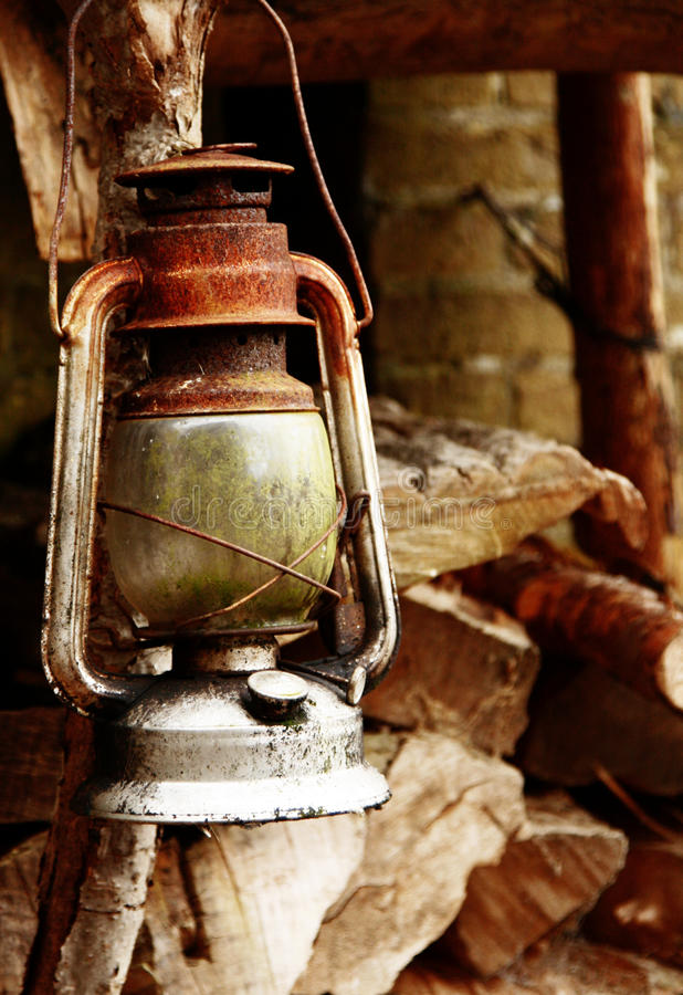 Oude Lamp stock afbeelding