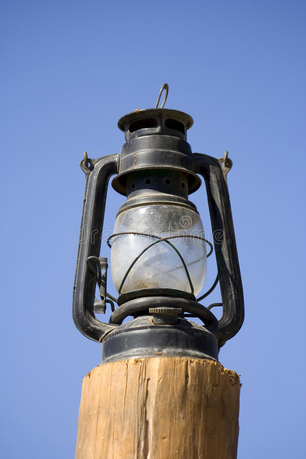 Oude lamp stock foto
