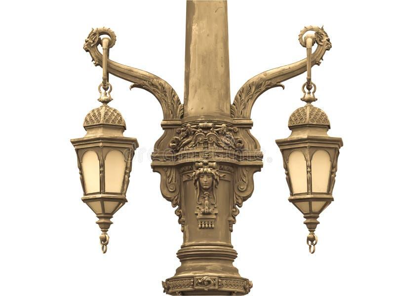 Oude lamp stock fotografie