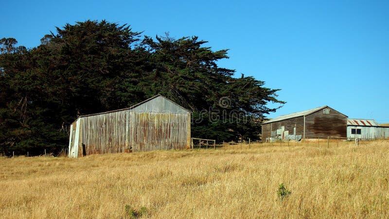 Oude Landbouwbedrijfgebouwen, Tasmanige royalty-vrije stock afbeelding