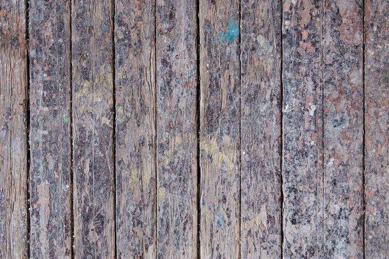 Oude langzaam verdwenen houten plankachtergrond royalty-vrije stock afbeelding