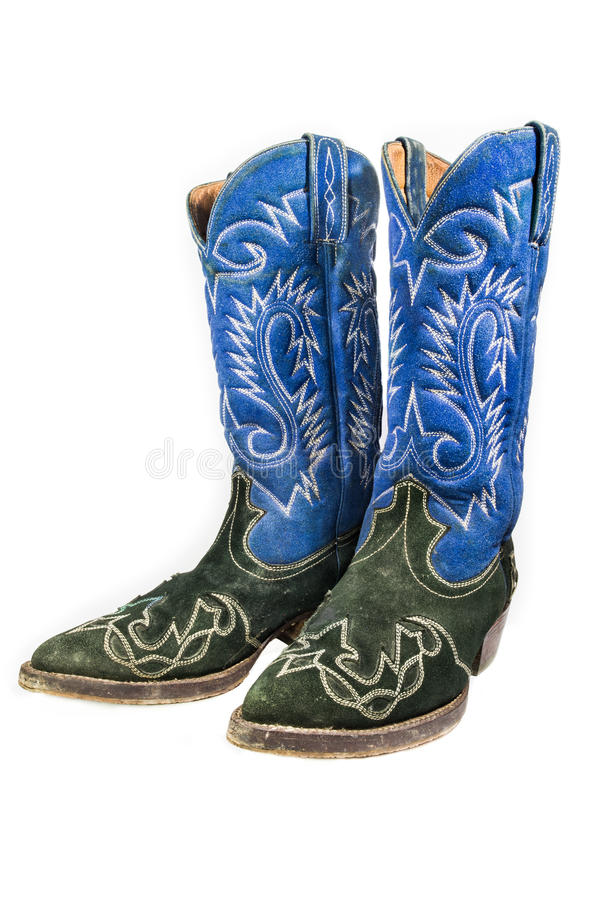 Oude Leercowboy Boots stock fotografie