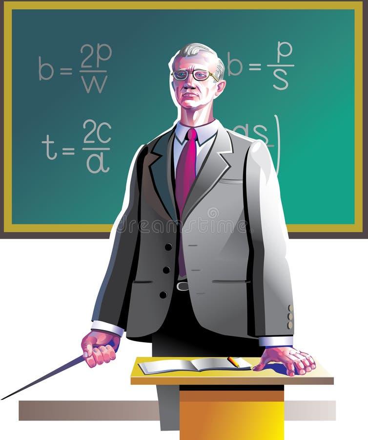 Oude leraar vector illustratie