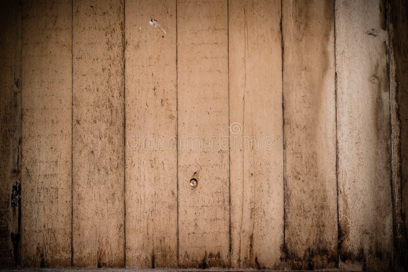 Oude lichtbruine achtergrond, houten textuurplank stock fotografie