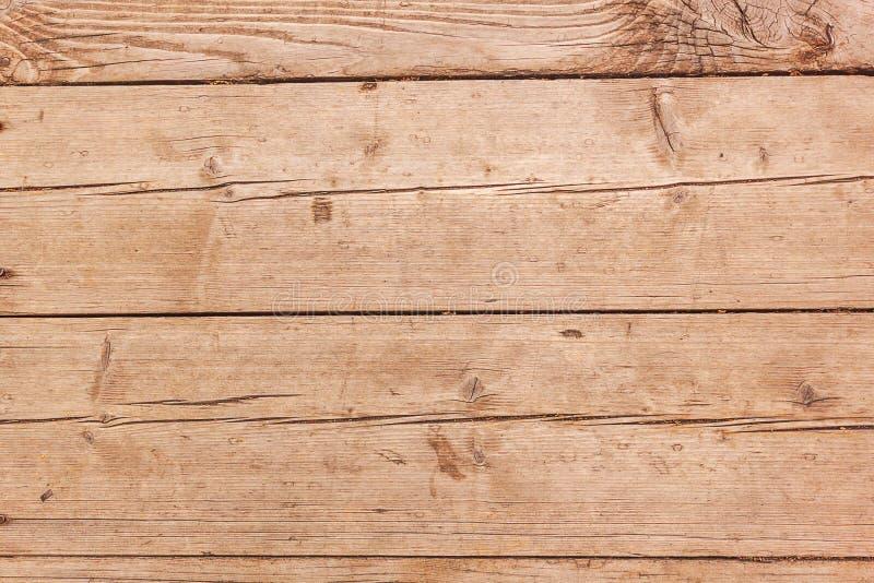 Oude lichtbruine houten achtergrond van horizontale raad stock afbeelding