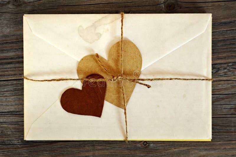 Oude liefdebrieven stock afbeeldingen